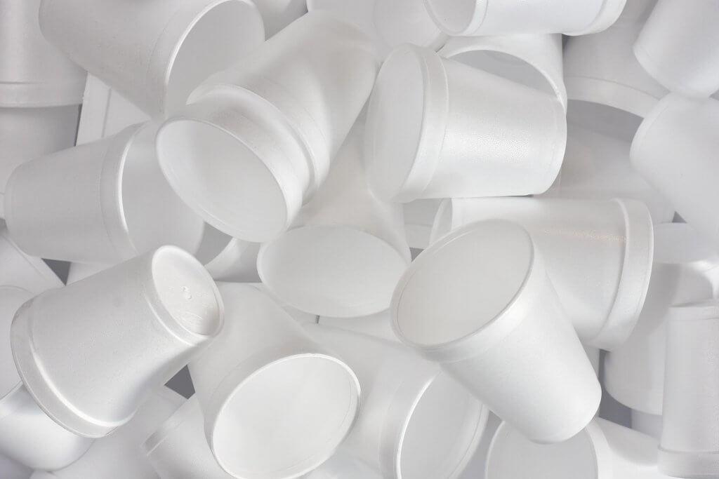 Lots of Styrofoam cups