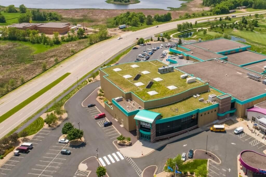 Green Roof on Dakotah Sport and Fitness
